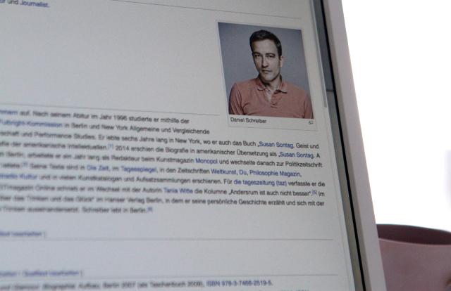Daniel Schreiber ist bei Wikipedia